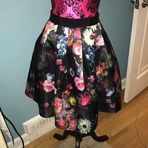 Ted Baker London floral full skirt fully lined